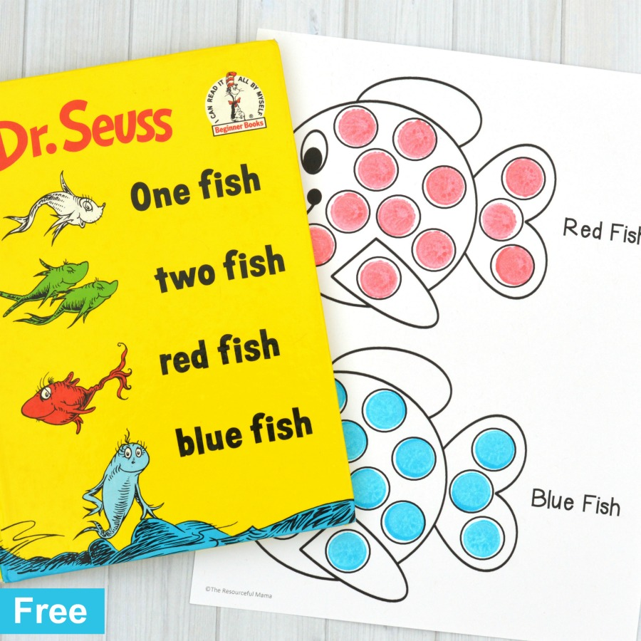 red fish blue fish activity