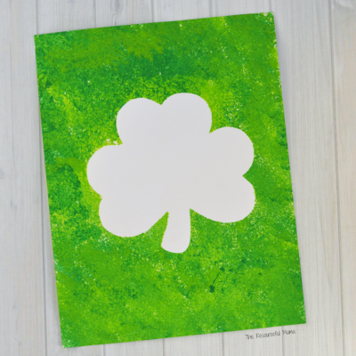 St. Patrick's Day Shamrock Art Project