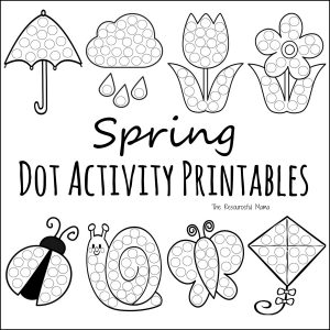photograph relating to Spring Printable known as Spring Do a Dot Prinables