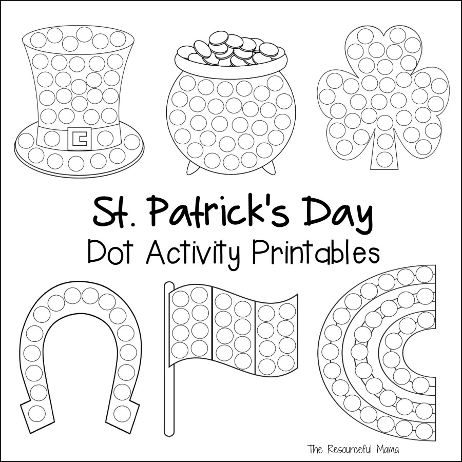 st patricks day dot activity printables the resourceful mama