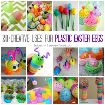 So many fun and creative ways to use plastic Easter eggs: crafts, activities, learning, and treats