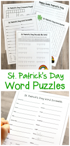 These St. Patrick's Day word puzzles reinforce and build on many skills while teaching kids about some of the St. Patrick's Day customs.