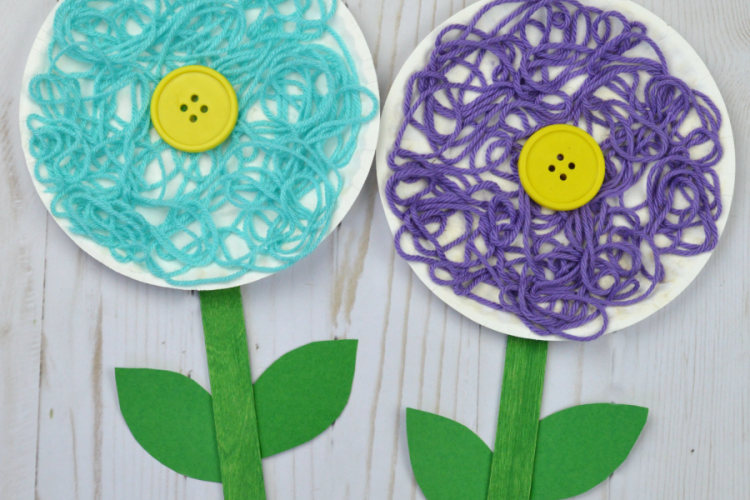 Mixed Media Flower Craft For Kids The Resourceful Mama