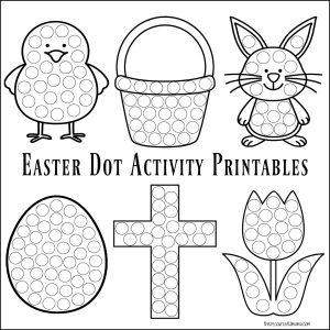 picture about Easter Printable referred to as Easter Dot Game Printables - The Creative Mama