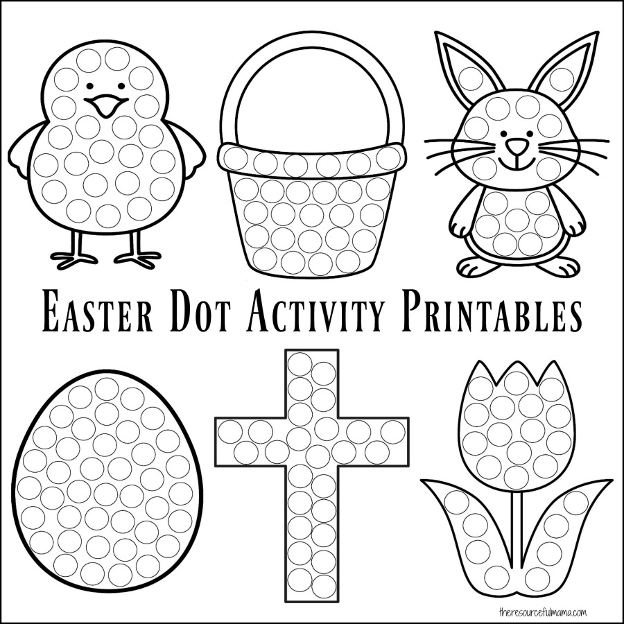 Beautiful Easter Dot to Dot Coloring