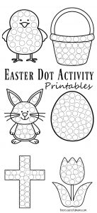 graphic regarding Printable Easter Activities referred to as Easter Dot Game Printables - The Creative Mama