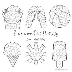 summer calls for lots of water activities cool treats and easy low prep activities like these summer dot activity printables