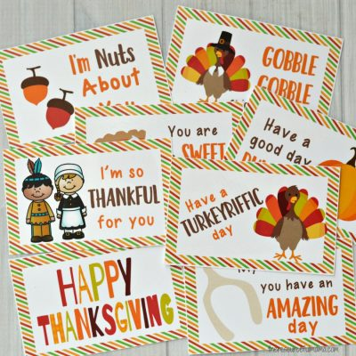Thanksgiving Lunch Box Notes