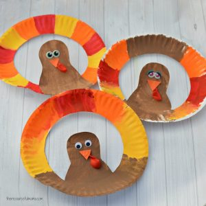 This paper plate turkey craft is a fun Thanksgiving craft for kids.
