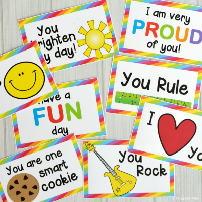 Bright & Colorful Lunch Box Notes