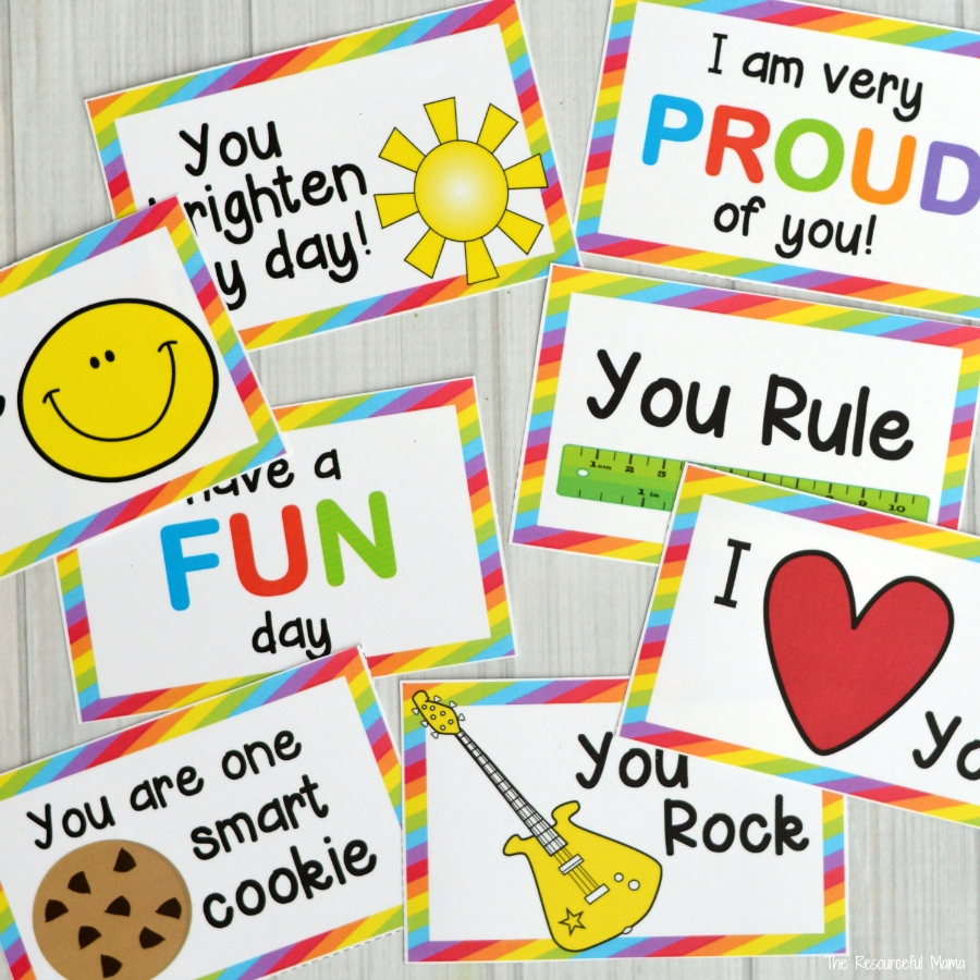 Surprise your kids by adding one of these fun and colorful lunch box notes to their lunch boxes. back to school