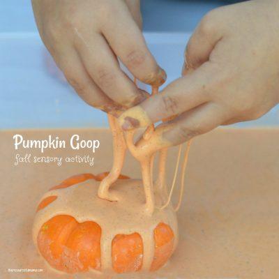 Pumpkin Goop: A Fun Fall Sensory Activity