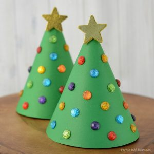 Christmas Tree Craft.Paper Cone Christmas Tree Kid Craft The Resourceful Mama