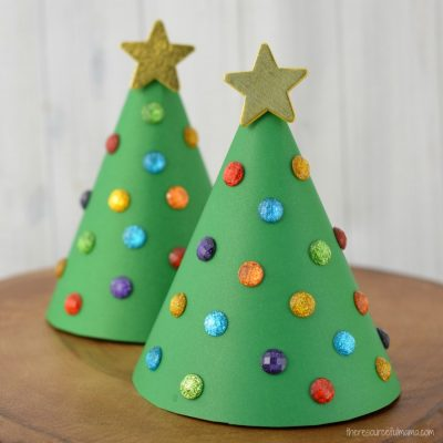 Paper Cone Christmas Tree Kid Craft