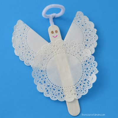 Craft Stick Angel Ornament