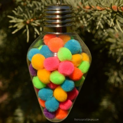 Pom Pom Filled Christmas Ornament