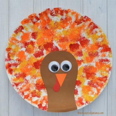 Sponged Painted Thanksgiving Turkey Craft