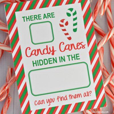 Candy Cane Hide & Seek Game {Free Printable}