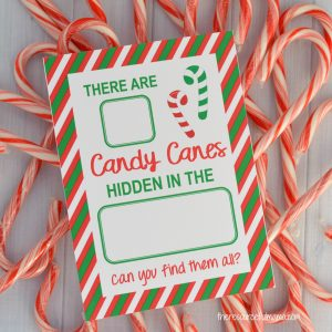 This Candy Cane Hide & Seek Game is a quick, easy, and inexpensive Christmas activity for kids. It's a great Elf on the Shelf activity.