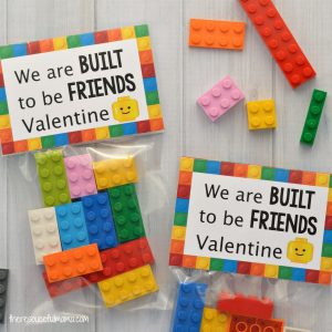 Your Lego loving kids are going to love giving their friends and classmates these Lego Valentine Cards and little sack of Legos for Valentine's Day.