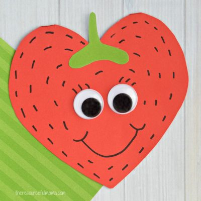 Strawberry Valentine Day Card Craft