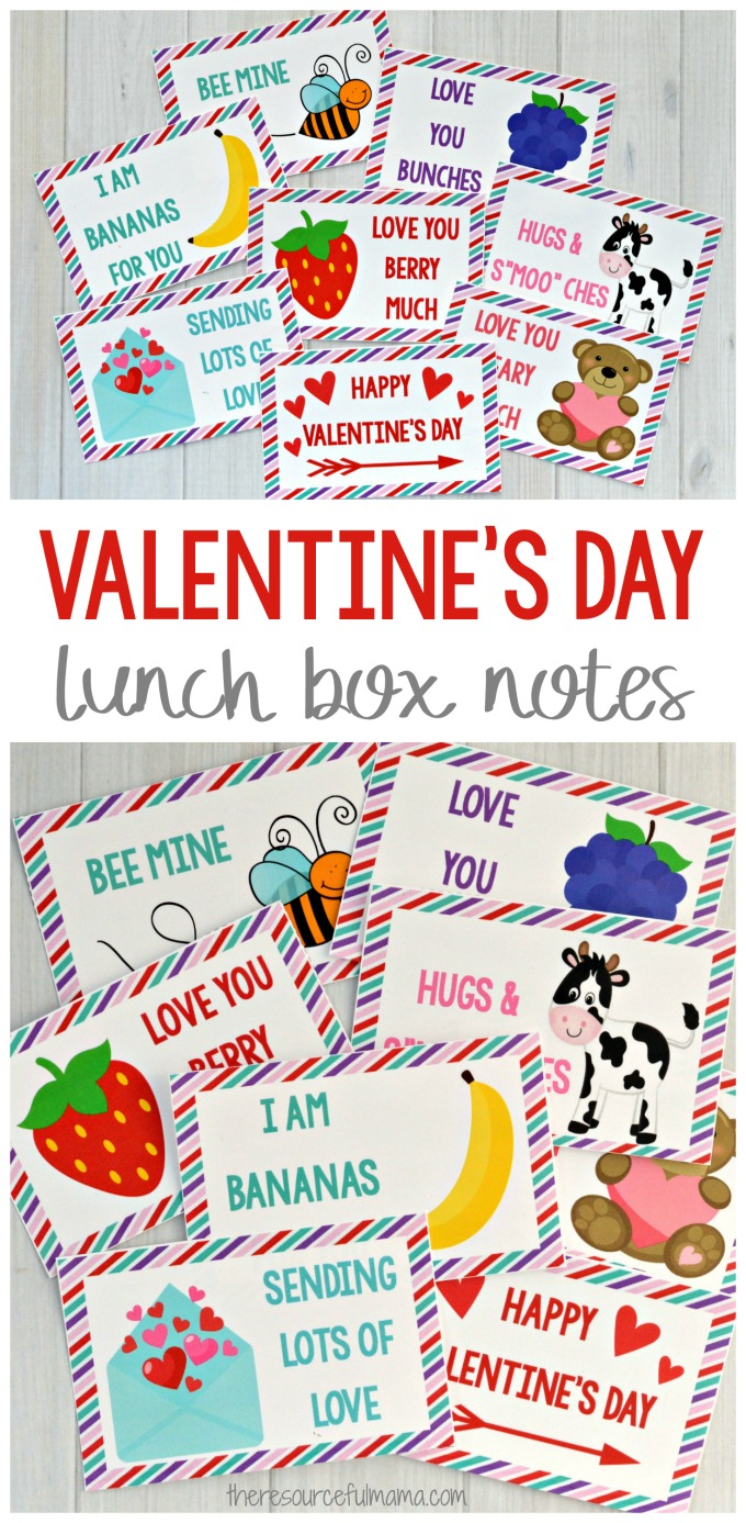 These Valentine's Day lunch box notes will make your child's lunch extra special. Kids love opening their lunch box and finding special note.
