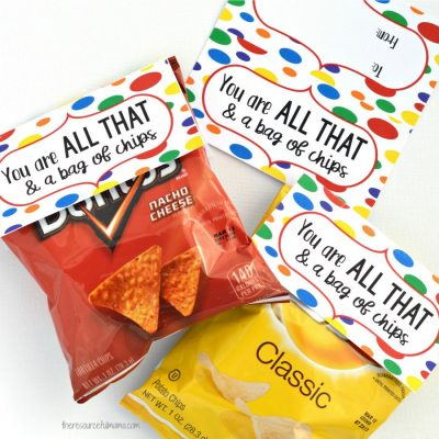 You Are All That & a Bag of Chips Valentines for Older Kids