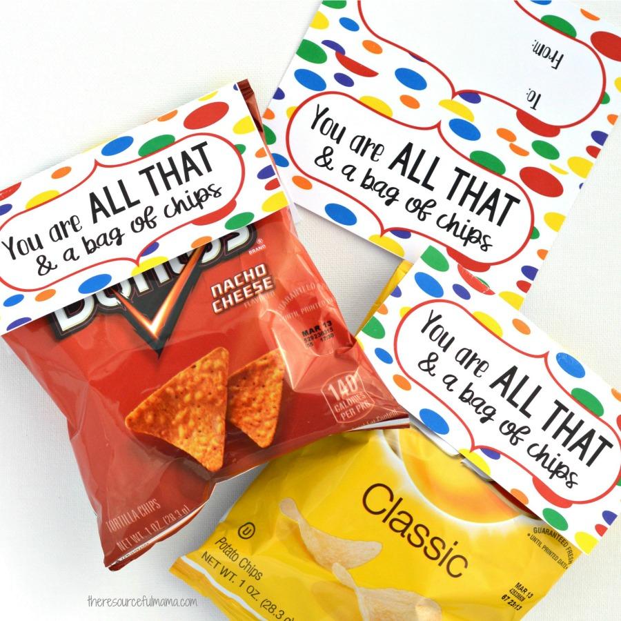 Printable Chip bag Happy Valentines Day Chip Bag Instant download Chip Bag Goodie Bag Chip Bag Valentine chip bag