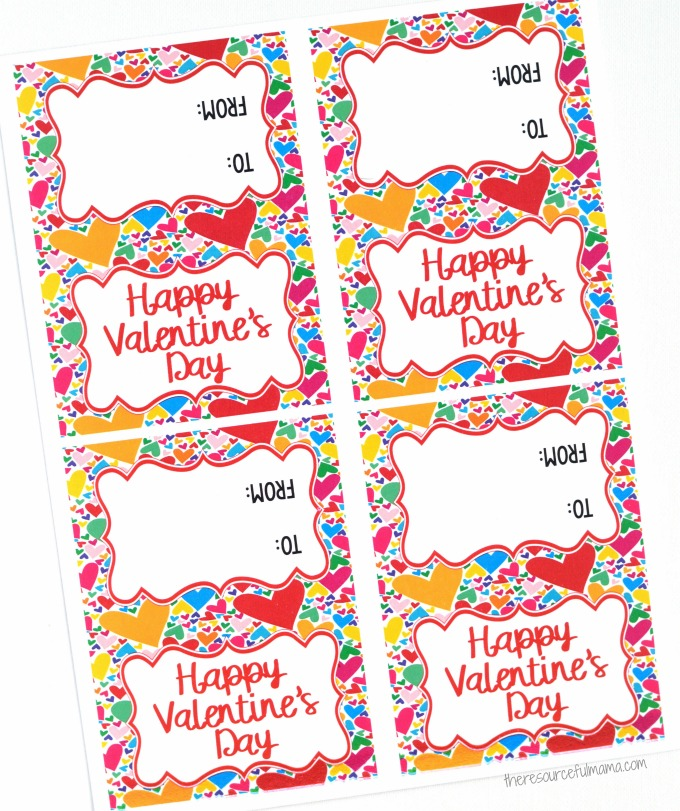photo regarding Printable Bag Toppers known as printable valentine bag toppers - The Artistic Mama
