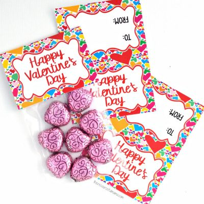 Valentine's Day Treat Bag Toppers