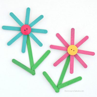 Popsicle Sticks Flower Craft for Kids