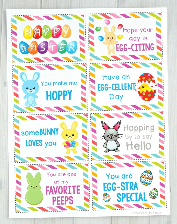These Easter Lunch Box Notes add a fun little seasonal surprise to your child's lunch. They are sure to brighten up their day and put a smile on your child's face.