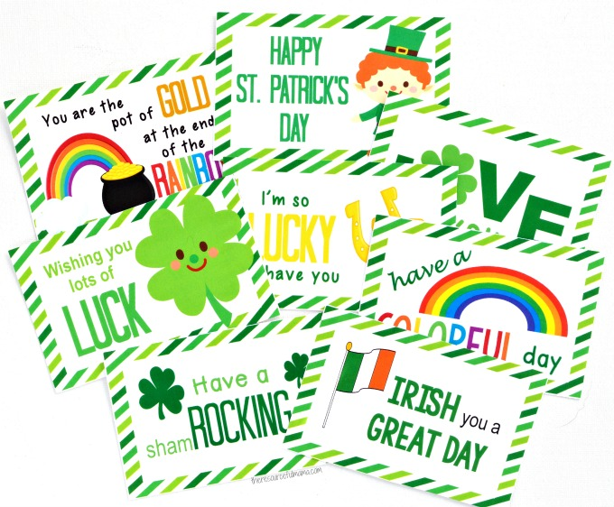 These St. Patrick's Day Lunch Box Notes add a fun little surprise to your child's lunch. They are sure to brighten up their day and put a smile on their face.