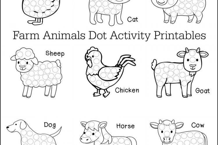 Farm Animals Dot Activity Printables