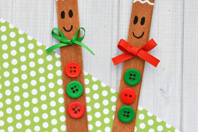 Craft Stick Gingerbread Man Ornament