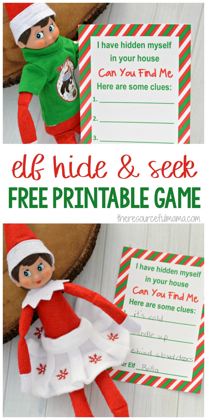 This printable hide & seek game is fun, interactive Elf on the Shelf Activity that requires very little prep while keeping the elf fun and interesting.