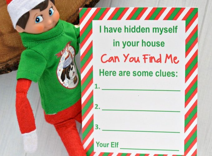 Elf on the Shelf Activity {Printable Hide & Seek Game}