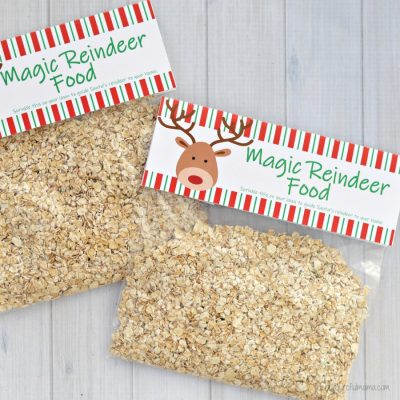Magic Reindeer Food {Printable Bag Topper}