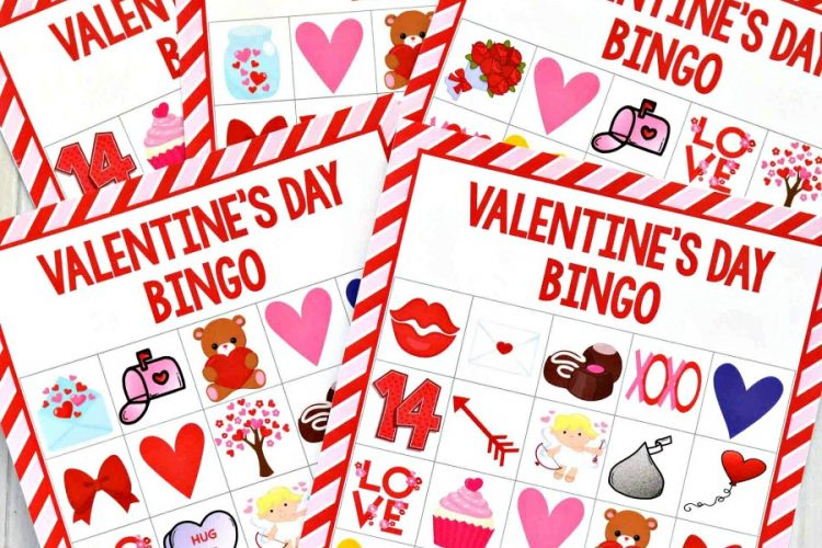 This Valentine's Day Bingo makes a  great game for your Valentine's Day parties or fun family night activity.  It's super inexpensive and quick and easy to put together.