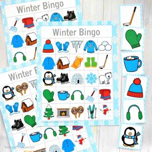 picture relating to Printable Bingo Chips named Wintertime Bingo Activity - The Imaginative Mama