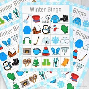This printable winter bingo is a fun low cost, low prep activity that can be done at home when the kids are bored and stuck inside this winter or in the classroom.